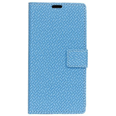 Buy BLUE Woven Pattern Flip Front Buckle Pu Leather Wallet Case for LG Q6 for $5.41 in GearBest store