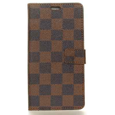 Grid Pattern Flip Front Buckle Pu Leather Wallet Case for Motorola Moto G5 Plus