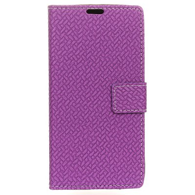 Buy PURPLE Woven Pattern Flip Front Buckle Pu Leather Wallet Case for Wiko Tommy 2 for $5.41 in GearBest store