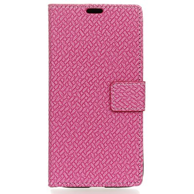 Buy ROSE RED Woven Pattern Flip Front Buckle Pu Leather Wallet Case for Wiko Tommy 2 for $5.41 in GearBest store