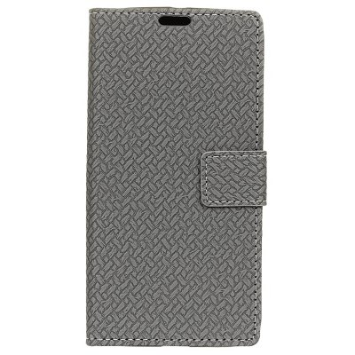Buy GRAY Woven Pattern Flip Front Buckle Pu Leather Wallet Case for Wiko Tommy 2 for $5.41 in GearBest store
