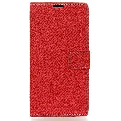Buy RED Woven Pattern Flip Front Buckle Pu Leather Wallet Case for Wiko Tommy 2 for $5.41 in GearBest store