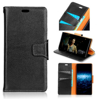 KaZiNe Lichee Pattern Genuine Leather Wallet Case for SAMSUNG A3 2017