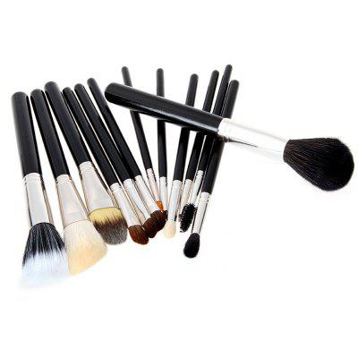 Todo 12X professional Makeup Brush with Cup Holder Case