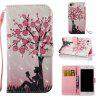 Plum Tree Girl 3D Painted Pu Phone Case for Iphone 7 - COLORMIX