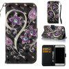 Peacock Flower 3D Painted Pu Phone Case for Iphone 7 - COLORMIX