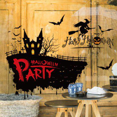 Halloween Horror Witch On The Broom Decor Decals for Home PartyWall Stickers<br>Halloween Horror Witch On The Broom Decor Decals for Home Party<br><br>Brand: DSU<br>Color Scheme: Others<br>Effect Size (L x W): 74 x 57cm<br>Function: Decorative Wall Sticker<br>Layout Size (L x W): 50 x 70cm<br>Material: Self-adhesive Plastic<br>Package Contents: 1 x Wall Sticker<br>Package size (L x W x H): 55.00 x 6.00 x 6.00 cm / 21.65 x 2.36 x 2.36 inches<br>Package weight: 0.1600 kg<br>Product size (L x W x H): 50.00 x 70.00 x 0.10 cm / 19.69 x 27.56 x 0.04 inches<br>Product weight: 0.1100 kg<br>Quantity: 1<br>Subjects: Cartoon,Christmas<br>Suitable Space: Entry,Hotel,Pathway<br>Type: Plane Wall Sticker