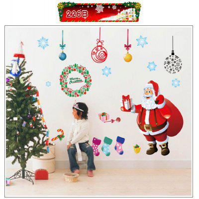 Buy Xmas Window Santa Claus Merry Christmas Tree Wall Stickers, MIX COLOR, Home & Garden, Home Decors, Wall Art, Wall Stickers for $7.86 in GearBest store