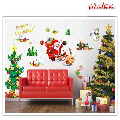 Buy Santa Claus Christmas Trees Gifts Wall Decal Living Room Decorative, MIXED COLOR, Home & Garden, Home Decors, Wall Art, Wall Stickers for $3.93 in GearBest store