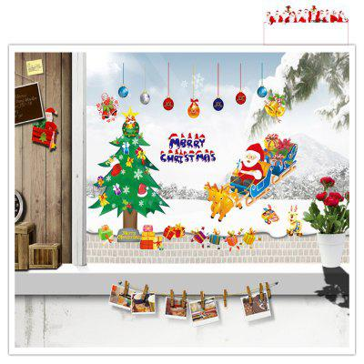 Buy Santa Claus Christmas Tree for Window Glass Can DIY Wall Sticker, MIXED COLOR, Home & Garden, Home Decors, Wall Art, Wall Stickers for $3.87 in GearBest store