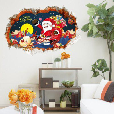 Buy Xmas Decoration Santa Claus Gift Deer Carriage Snowman Wall Sticker MIX COLOR Home & Garden > Home Decors > Wall Art > Wall Stickers for $4.28 in GearBest store