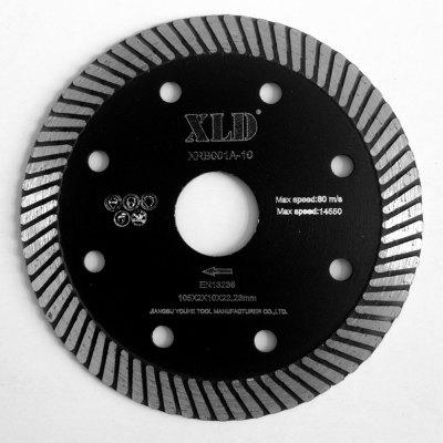 Xld Diamond Hot-Pressed Turbo Saw Blade Grade A 105 x 2 x 10 x 22.23 Suitable for Cutting Building Material
