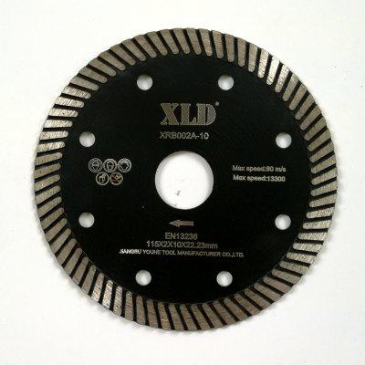 Xld Diamond Hot-Pressed Turbo Saw Blade Grade A 115 x 2 x 10 x 22.23 Suitable for Cutting Building Material