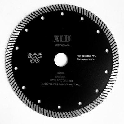 Xld Diamond Hot-Pressed Turbo Saw Blade Grade A 180 x 2.4 x 10 x 22.23 Suitable for Cutting Building Material