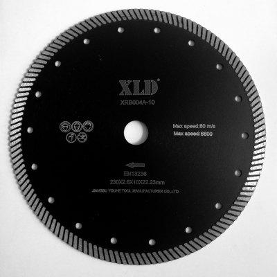 Xld Diamond Hot-Pressed Turbo Saw Blade Grade A 230 x 2.6 x 10 x 22.23 Suitable for Cutting Building Material