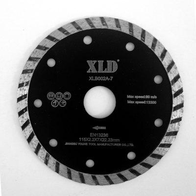 Xld diamond Cold-Pressed Turbo Saw Blade Grade A 115 x 2.2 x 7 x 22.23