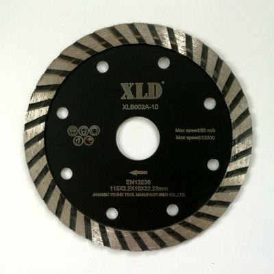 Xld Cold-Pressed Turbo Diamond Saw Blade Grade A 115 x 2.2 x 10 x 22.23