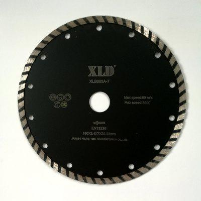 Xld Cold-Pressed Turbo Diamond Saw Blade Grade A 180 x 2.4 x 7 x 22.23