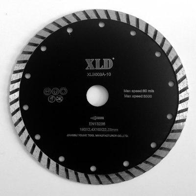 Xld Cold-Pressed Turbo Diamond Saw Blade Grade A 180 x 2.4 x 10 x 22.23