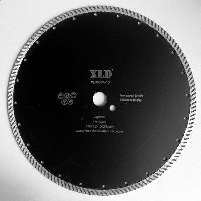 Xld diamond Cold-Pressed Turbo Saw Blade Grade A 350 x 3.6 x 10 x 25.4
