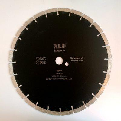 Xld Diamond Cold-Pressed Segmented Saw Blade Grade A 350 x 3.4 x 12 x 25.4