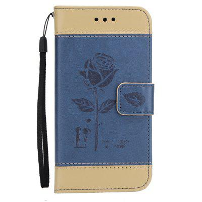 Wkae Mixed Colors Rose Flower Frosted Premium Leather Wallet Stand Case Cover with Lanyard Card Slots for Samsung Galaxy Note 5 wkae forest series colorful paiting litchi texture premium pu leather horizontal flip stand wallet case cover with card slots for iphone 7 plus and 8 plus
