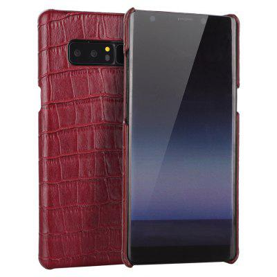 Wkae Crocodile Txeture Luxury Genuine Leather Holster Case Cowhide Armor Protective Cover for Samsung Galaxy Note 8