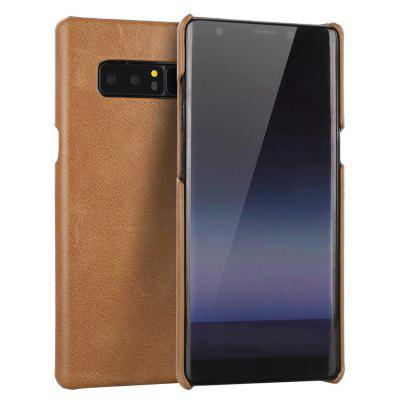 Wkae Retro Frosted Genuine Leather Protective Cover Case for Samsung Galaxy Note 8