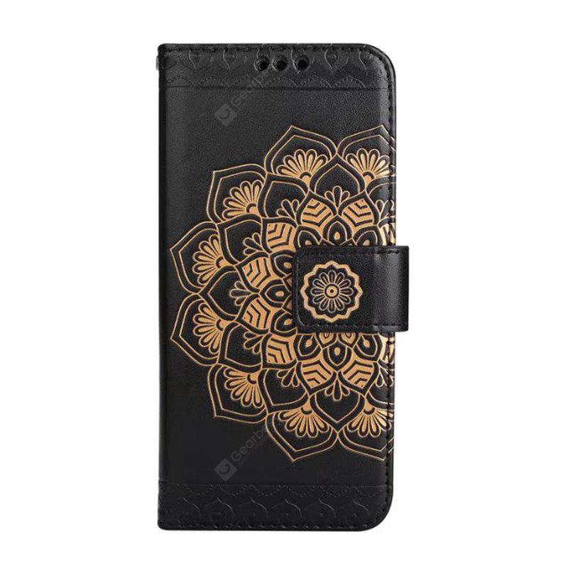 Wkae Flower Embossing Pattern Pu Leather Wallet Stand Case Cover with Card Slots for iPhone 6 6S