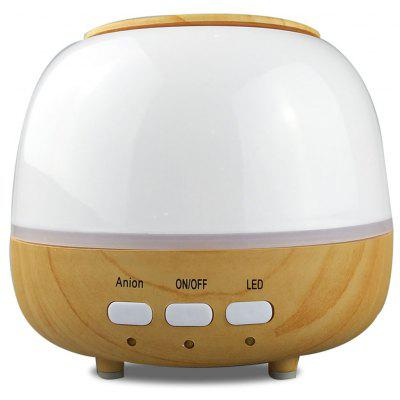 450ml Wood Grain Air Humidifier Ultrasonic Aroma Diffuser LED Night Light