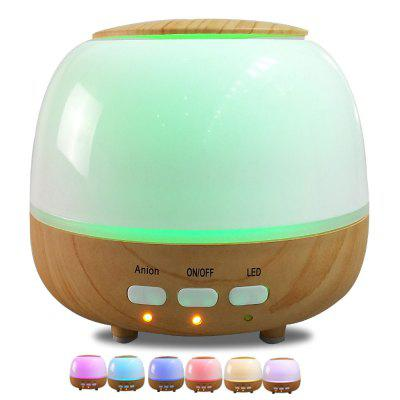 450ml Wood Grain Air Humidifier Ultrasonic Aroma Diffuser LED Night LightAir Purifier<br>450ml Wood Grain Air Humidifier Ultrasonic Aroma Diffuser LED Night Light<br><br>Application Area (sq.m.): 25<br>Connector Type: US plug, UK plug, EU plug, CN Plug, AU plug<br>Cord Length: 1.5m<br>Humidification Amount (ml/h): 20-30ml/h<br>Input Voltage: 100-240<br>Material: ABS, PP<br>Noise (dB): &lt;25<br>Package Contents: 1 x Diffuser, 1 x Adapter, 1 x Essential Oil, 1 x English Manual<br>Package size (L x W x H): 16.30 x 16.30 x 17.30 cm / 6.42 x 6.42 x 6.81 inches<br>Package weight: 0.7000 kg<br>Power (W): 12<br>Product size (L x W x H): 15.50 x 15.50 x 13.00 cm / 6.1 x 6.1 x 5.12 inches<br>Product weight: 0.6700 kg<br>Voltage (V): 24<br>Water Tank Capacity (ml): 450<br>Working Temperature: -20-40 Deg.C