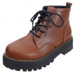 Buy Designer Shoes Fashion Europe America Pure Color Boots Low Non-Slip Warm Waterproof Car Suture Ladies 36 BROWN