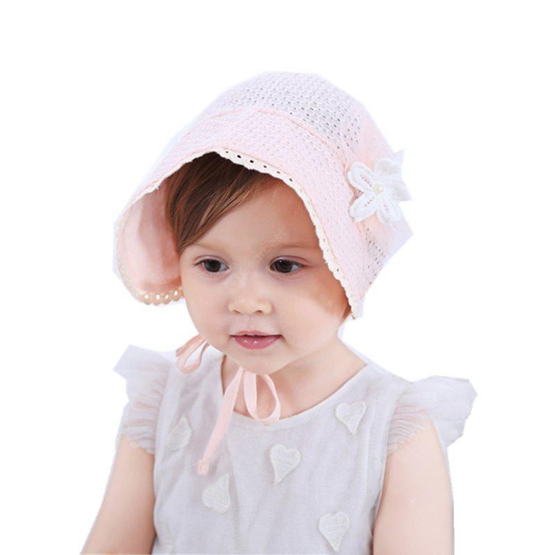 Baby Girls Hat Flower Pattern Hollow Out Solid Baby Girls Hat