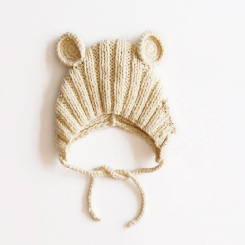 Pure Hand Boy Girl Round Ear Knit Cap Baby Hat Is Suitable for 1-3 Years Old Around 48CM
