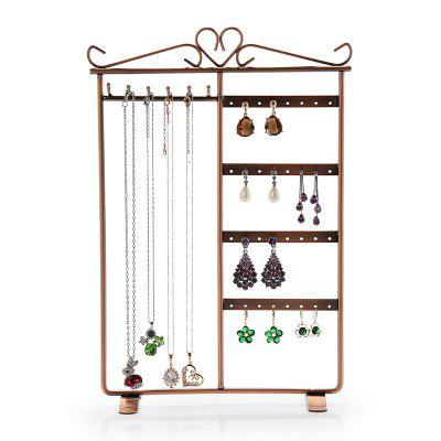 Jewelry Multi-Function Metal Frame Earrings Necklace Display Rack