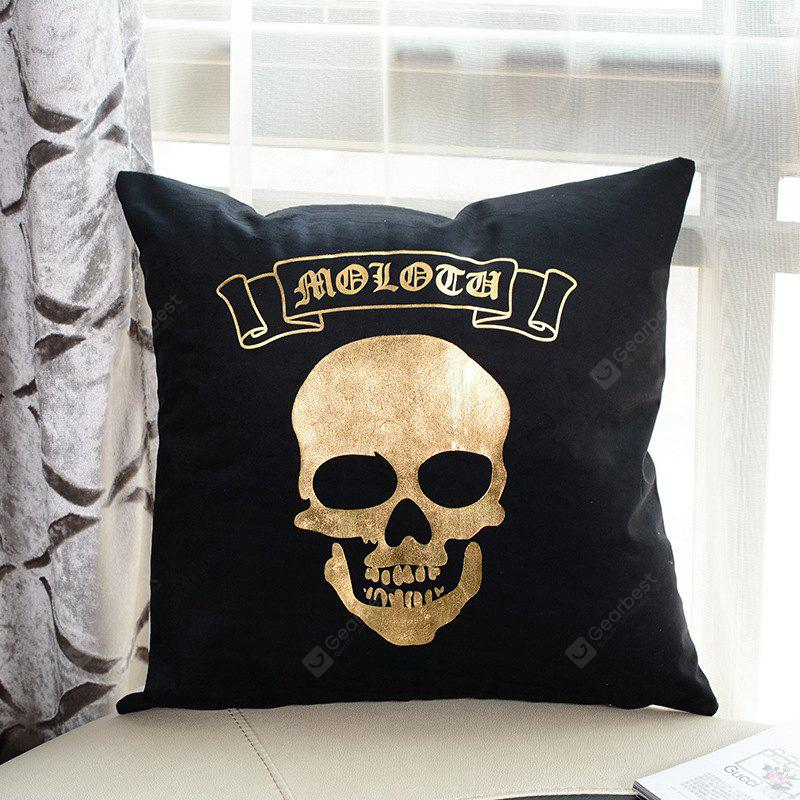Halloween Skull Pattern Plush Pillow Case Decorative Pillowcase