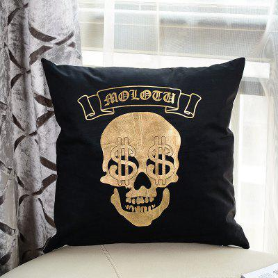 Halloween Skull dollar Pattern Pillow Case Travesseiro decorativo