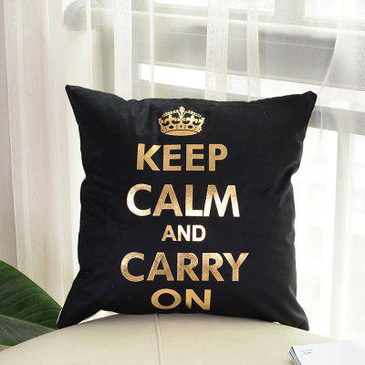 Buy Simple Bronzing Crown Pillow Case Decorative Pillowcase, BLACK, Home & Garden, Home Textile, Bedding, Pillow for $7.50 in GearBest store