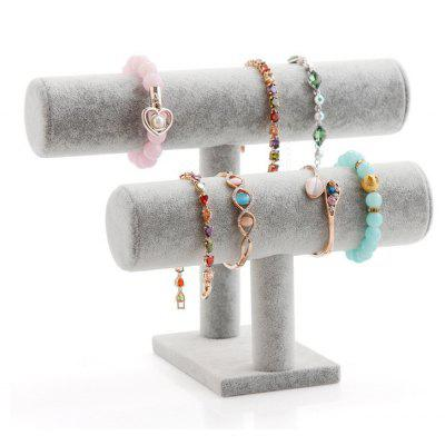 Jewelry High Quality Flannelette Bracelet Double Storage Rack