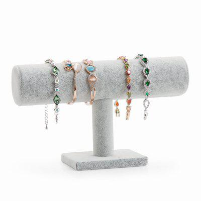 Jewelry High Quality Grey Plush Single-layer Bracelet Display Rack