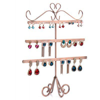 Jewelry Three-layer Showing Stand Fish Bone Shape Ear Nail Earrings Display Rack