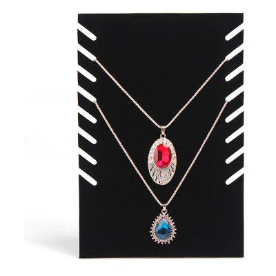 Jewelry Velvet Square Necklace Showing Stand Bracelet Storage Rack