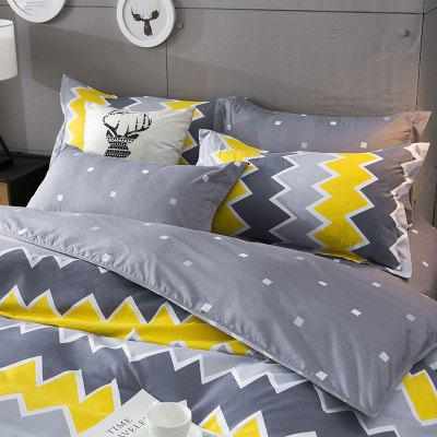 Dyy 4PCS Fashion Individual Chemical Fiber Bedding Set Pillowcase Bed Sheet Quilt Cover K12.1.5.1Bedding Sets<br>Dyy 4PCS Fashion Individual Chemical Fiber Bedding Set Pillowcase Bed Sheet Quilt Cover K12.1.5.1<br><br>Package Contents: 2 x Pillowcase, 1 x Bed Sheet, 1 x Quilt Cover<br>Package size (L x W x H): 29.00 x 17.00 x 1.50 cm / 11.42 x 6.69 x 0.59 inches<br>Package weight: 1.3000 kg<br>Pattern Type: Animal, Random pattern, Novelty, Leaf<br>Product size (L x W x H): 200.00 x 230.00 x 1.00 cm / 78.74 x 90.55 x 0.39 inches<br>Product weight: 1.2000 kg<br>Style: Cartoon / Anime, Fresh / Rural, Strip / Grid, Scenery / Landscape