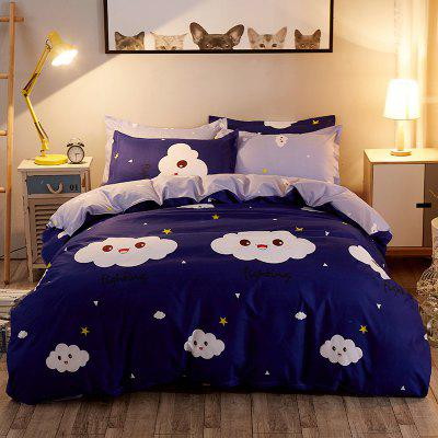 Dyy 4PCS Fashion Individual Chemical Fiber Dedding Set Pillowcase Bed Sheet Quilt CoverBedding Sets<br>Dyy 4PCS Fashion Individual Chemical Fiber Dedding Set Pillowcase Bed Sheet Quilt Cover<br><br>Package Contents: 2 x Pillowcase,1 x Bed Sheet,1 x Quilt Cover<br>Package size (L x W x H): 29.00 x 17.00 x 1.50 cm / 11.42 x 6.69 x 0.59 inches<br>Package weight: 1.9000 kg<br>Pattern Type: Animal, Random pattern, Novelty, Leaf<br>Product size (L x W x H): 230.00 x 250.00 x 1.00 cm / 90.55 x 98.43 x 0.39 inches<br>Product weight: 1.7000 kg<br>Style: Cartoon / Anime, Fresh / Rural, Scenery / Landscape, Plant / Flower