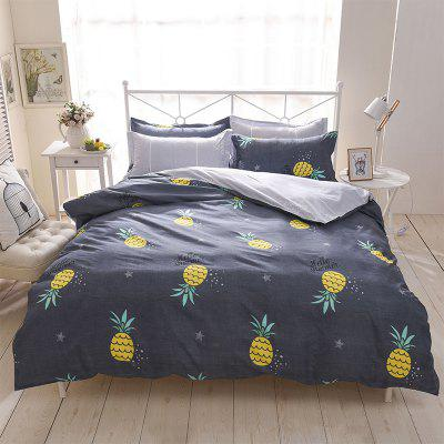 Buy STONE BLUE Dyy 4PCS Wave Point Bedding Set Pillowcase Bed Sheet Quilt Cover K12.1.2 for $53.13 in GearBest store