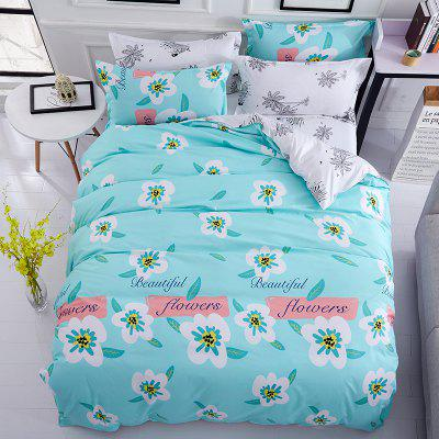 Buy OASIS Dyy 4PCS Wave Point Bedding Set Pillowcase Bed Sheet Quilt Cover K12.1.2 for $53.13 in GearBest store