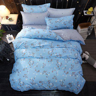 Buy BLUE Dyy 4PCS Wave Point Bedding Set Pillowcase Bed Sheet Quilt Cover K12.1.2 for $53.13 in GearBest store