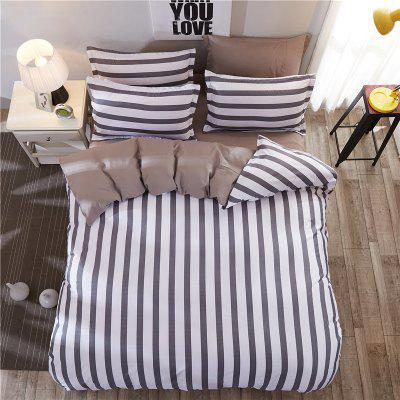 Dyy 4PCS Fashion Stripe Bedding Set Pillowcase Bed Sheet Quilt Cover Y2017.2.2Bedding Sets<br>Dyy 4PCS Fashion Stripe Bedding Set Pillowcase Bed Sheet Quilt Cover Y2017.2.2<br><br>Package Contents: 2 x Pillowcase, 1 x Bed Sheet, 1 x Quilt Cover<br>Package size (L x W x H): 29.00 x 17.00 x 1.50 cm / 11.42 x 6.69 x 0.59 inches<br>Package weight: 1.8000 kg<br>Pattern Type: Leaf, Random pattern, Plaid, Novelty<br>Product size (L x W x H): 230.00 x 250.00 x 1.00 cm / 90.55 x 98.43 x 0.39 inches<br>Product weight: 1.7000 kg<br>Style: Fresh / Rural, Scenery / Landscape, Strip / Grid