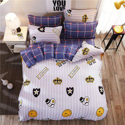 Dyy 4PCS Fashion Artistic Design Bedding Set Pillowcase Bed Sheet Quilt CoverY2017.2.0Bedding Sets<br>Dyy 4PCS Fashion Artistic Design Bedding Set Pillowcase Bed Sheet Quilt CoverY2017.2.0<br><br>Package Contents: 2 x Pillowcase, 1 x Bed Sheet, 1 x Quilt Cover<br>Package size (L x W x H): 29.00 x 17.00 x 1.50 cm / 11.42 x 6.69 x 0.59 inches<br>Package weight: 1.6000 kg<br>Pattern Type: Animal, Leaf, Random pattern, Novelty<br>Product size (L x W x H): 230.00 x 230.00 x 1.00 cm / 90.55 x 90.55 x 0.39 inches<br>Product weight: 1.5000 kg<br>Style: Cartoon / Anime, Strip / Grid, Plant / Flower, Fresh / Rural, Scenery / Landscape