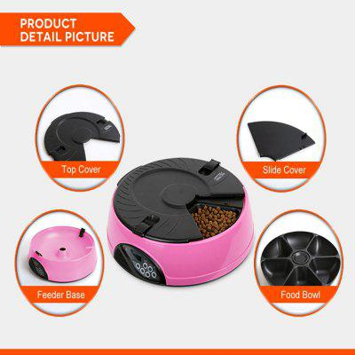 TODO 6 Meals LCD Automatic Pet FeederDog Feeding Supplies<br>TODO 6 Meals LCD Automatic Pet Feeder<br><br>Color: Light blue,Pink,Yellow<br>For: Cats, Dogs<br>Material: ABS<br>Package Contents: 1 x Feeder Base, 1 x Food Hopper, 1 x Slide Cover, 1 x Top Cover, 1 x English Version User Manual<br>Package size (L x W x H): 33.00 x 33.00 x 11.50 cm / 12.99 x 12.99 x 4.53 inches<br>Package weight: 2.0000 kg<br>Product size (L x W x H): 32.40 x 32.40 x 9.00 cm / 12.76 x 12.76 x 3.54 inches<br>Product weight: 1.2500 kg<br>Season: All seasons<br>Type: Others